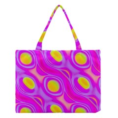 Noise Texture Graphics Generated Medium Tote Bag by Onesevenart