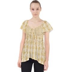 Pattern Abstract Background Lace Front Dolly Top