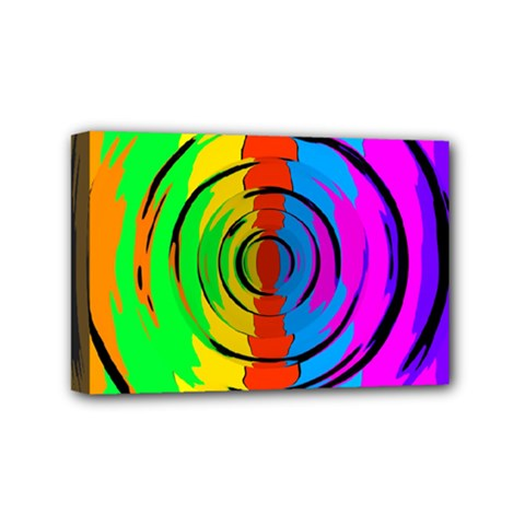 Pattern Colorful Glass Distortion Mini Canvas 6  X 4  by Onesevenart