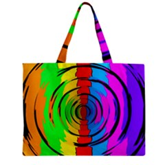 Pattern Colorful Glass Distortion Zipper Mini Tote Bag by Onesevenart