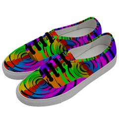 Pattern Colorful Glass Distortion Men s Classic Low Top Sneakers by Onesevenart