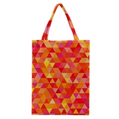 Triangle Tile Mosaic Pattern Classic Tote Bag by Onesevenart