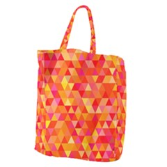 Triangle Tile Mosaic Pattern Giant Grocery Zipper Tote by Onesevenart