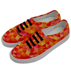 Triangle Tile Mosaic Pattern Men s Classic Low Top Sneakers by Onesevenart