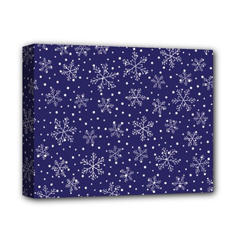 Snowflakes Pattern Deluxe Canvas 14  X 11  by Onesevenart