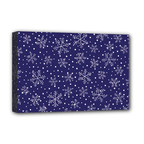 Snowflakes Pattern Deluxe Canvas 18  X 12   by Onesevenart