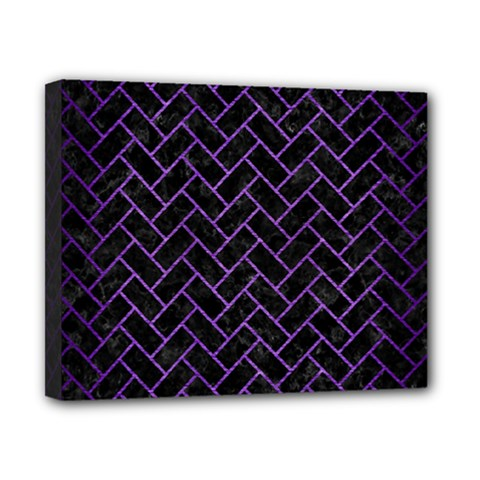 Brick2 Black Marble & Purple Brushed Metal (r) Canvas 10  X 8  by trendistuff