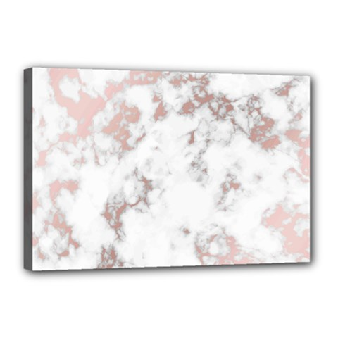Pure And Beautiful White Marple And Rose Gold, Beautiful ,white Marple, Rose Gold,elegnat,chic,modern,decorative, Canvas 18  X 12  by 8fugoso