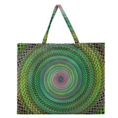 Wire Woven Vector Graphic Zipper Large Tote Bag by Onesevenart