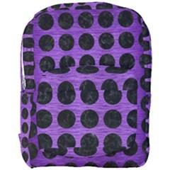 Circles1 Black Marble & Purple Brushed Metal Full Print Backpack by trendistuff