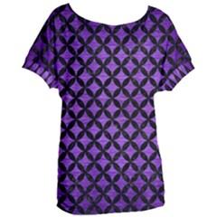 Circles3 Black Marble & Purple Brushed Metal Women s Oversized Tee by trendistuff