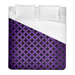 Circles3 Black Marble & Purple Brushed Metal (r) Duvet Cover (full/ Double Size) by trendistuff