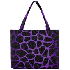 Skin1 Black Marble & Purple Brushed Metal Mini Tote Bag by trendistuff
