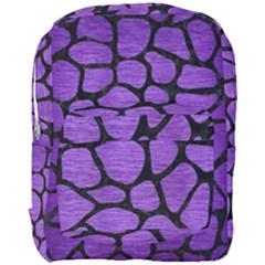 Skin1 Black Marble & Purple Brushed Metal (r) Full Print Backpack by trendistuff
