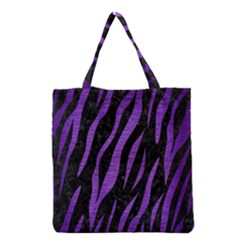 Skin3 Black Marble & Purple Brushed Metal (r) Grocery Tote Bag by trendistuff