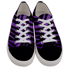 Skin3 Black Marble & Purple Brushed Metal (r) Women s Low Top Canvas Sneakers