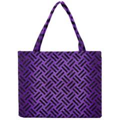 Woven2 Black Marble & Purple Brushed Metalwoven2 Black Marble & Purple Brushed Metal Mini Tote Bag by trendistuff