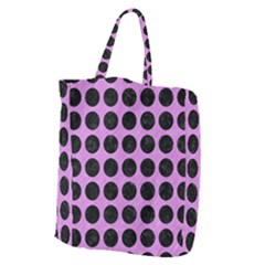 Circles1 Black Marble & Purple Colored Pencil Giant Grocery Zipper Tote by trendistuff