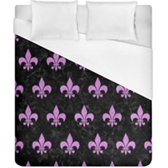 Royal1 Black Marble & Purple Colored Pencil Duvet Cover (california King Size) by trendistuff