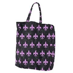 Royal1 Black Marble & Purple Colored Pencil Giant Grocery Zipper Tote by trendistuff