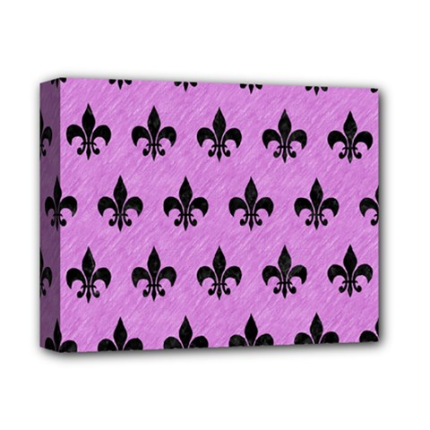 Royal1 Black Marble & Purple Colored Pencil (r) Deluxe Canvas 14  X 11  by trendistuff