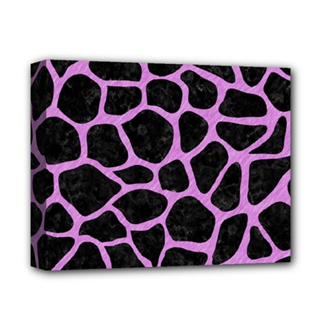 Skin1 Black Marble & Purple Colored Pencil Deluxe Canvas 14  X 11  by trendistuff