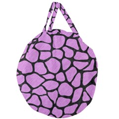 Skin1 Black Marble & Purple Colored Pencil (r) Giant Round Zipper Tote by trendistuff
