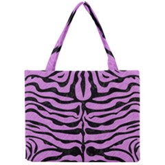 Skin2 Black Marble & Purple Colored Pencil Mini Tote Bag by trendistuff