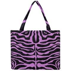 Skin2 Black Marble & Purple Colored Pencil (r) Mini Tote Bag by trendistuff