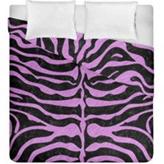 Skin2 Black Marble & Purple Colored Pencil (r) Duvet Cover Double Side (king Size) by trendistuff