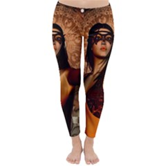 Wonderful Fantasy Women With Mask Classic Winter Leggings by FantasyWorld7