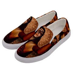 Wonderful Fantasy Women With Mask Men s Canvas Slip Ons by FantasyWorld7