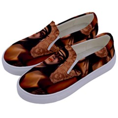 Wonderful Fantasy Women With Mask Kids  Canvas Slip Ons by FantasyWorld7