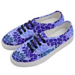 Azurite Blue Flowers Women s Classic Low Top Sneakers