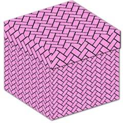 Brick2 Black Marble & Pink Colored Pencil Storage Stool 12   by trendistuff
