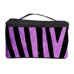Skin4 Black Marble & Purple Colored Pencil Cosmetic Storage Case by trendistuff