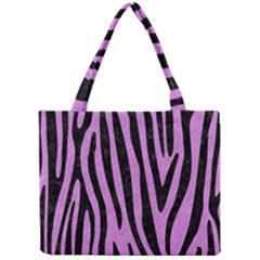 Skin4 Black Marble & Purple Colored Pencil (r) Mini Tote Bag by trendistuff