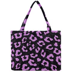 Skin5 Black Marble & Purple Colored Pencil Mini Tote Bag by trendistuff