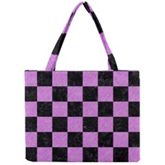 Square1 Black Marble & Purple Colored Pencil Mini Tote Bag by trendistuff