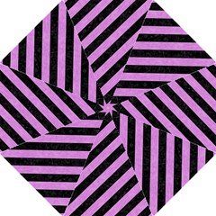 Stripes3 Black Marble & Purple Colored Pencil (r) Golf Umbrellas by trendistuff