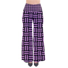 Woven1 Black Marble & Purple Colored Pencil (r) Pants by trendistuff