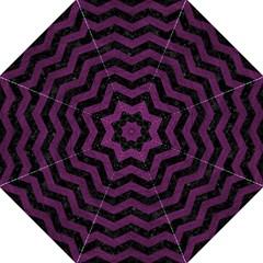 Chevron3 Black Marble & Purple Leather Straight Umbrellas by trendistuff