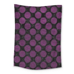 Circles2 Black Marble & Purple Leather (r) Medium Tapestry by trendistuff