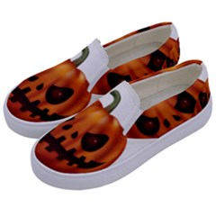Halloween Pumpkin Kids  Canvas Slip Ons by Valentinaart