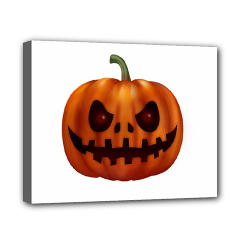 Halloween Pumpkin Canvas 10  X 8  by Valentinaart