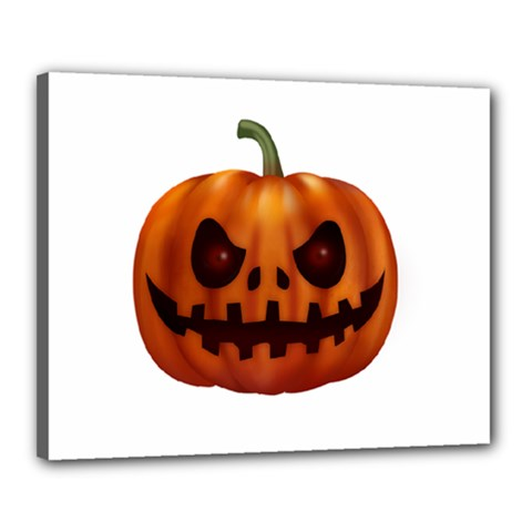 Halloween Pumpkin Canvas 20  X 16  by Valentinaart