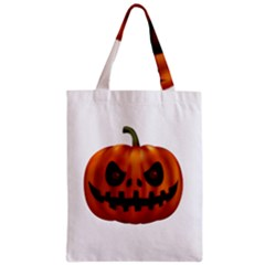 Halloween Pumpkin Zipper Classic Tote Bag by Valentinaart