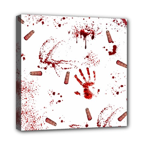 Massacre  Mini Canvas 8  X 8  by Valentinaart