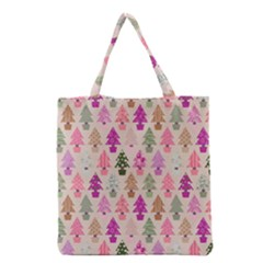 Christmas Tree Pattern Grocery Tote Bag by Valentinaart
