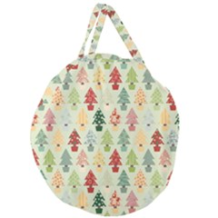 Christmas Tree Pattern Giant Round Zipper Tote by Valentinaart